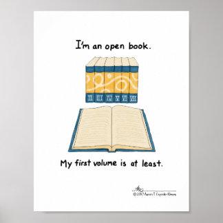 Copie ouverte de livre poster