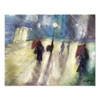 Copie pluvieuse de photo de paysage urbain