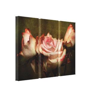 Copie poussiéreuse de toile de bout droit de rose
