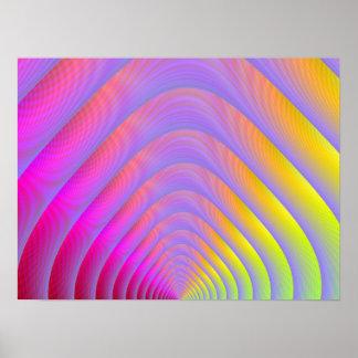 Copie psychédélique de tunnel posters
