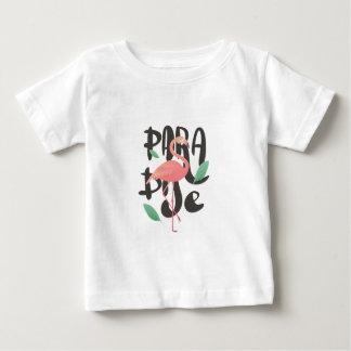 Copie rose de paradis de flamant t-shirt pour bébé