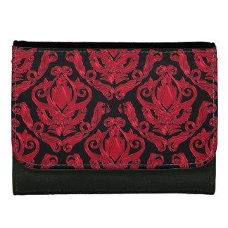 Copie rouge et noire élégante de damassé