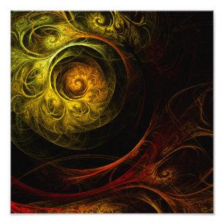 Copie rouge florale de photo d'art abstrait de