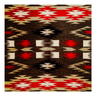 Copie tribale de conception de Navajo de Natif amé Poster