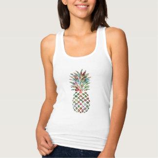 Copie tropicale d'ananas de fleur débardeur