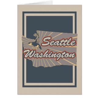 Copie v2 de voyage de carte de voeux de Seattle,