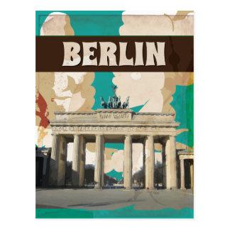 Copie vintage d'affiche de voyage de Berlin Carte Postale