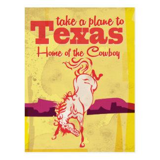 Copie vintage d'affiche de voyage du Texas Carte Postale