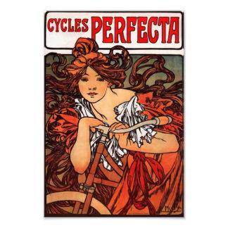 Copie vintage de bicyclette d'Alphonse Mucha Photo D'art