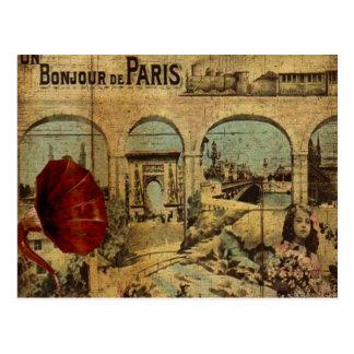 Copie vintage de Paris Carte Postale