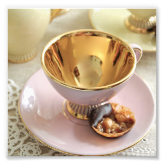 Copie vintage de photo de tasse de rose et de café