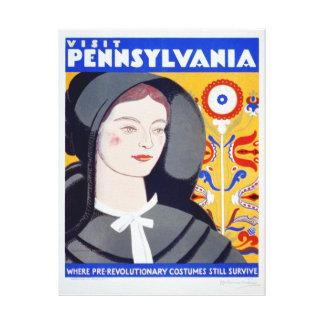 Copie vintage de toile de la Pennsylvanie de
