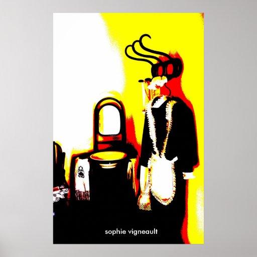 copie vintage psychédélique de costume de domestiq affiche