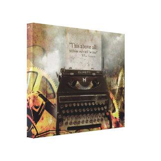 Copie vintage punk de toile de machine à écrire de