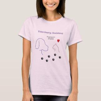 Copies vétérinaires d'Assistant-Patte sur mon T-shirt