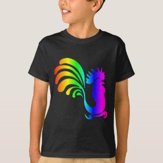 Coq #2 d'arc-en-ciel t-shirt