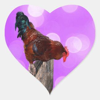 Coq Parker fouineur, autocollant de coeur