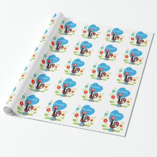 Coq portugais de la chance papier cadeau