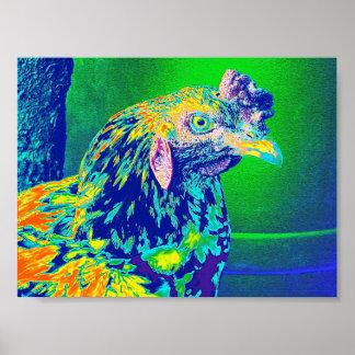 Coq psychédélique affiches