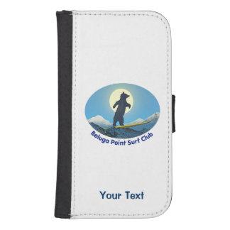 Coque Avec Portefeuille Pour Galaxy S4 Club de surf de point de beluga