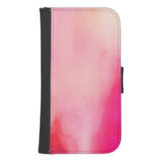 Coque Avec Portefeuille Pour Galaxy S4 Coloré orange de corail de rose abstrait