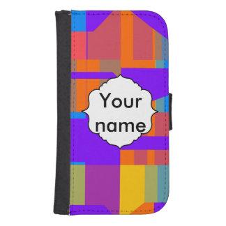 Coque Avec Portefeuille Pour Galaxy S4 Conception colorée d'abrégé sur formes