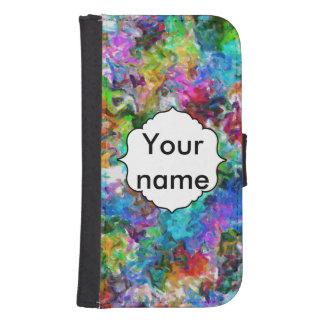 Coque Avec Portefeuille Pour Galaxy S4 Conception colorée d'abrégé sur mélange
