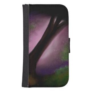 Coque Avec Portefeuille Pour Galaxy S4 Imaginaire de forêt