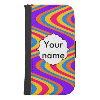 Coque Avec Portefeuille Pour Galaxy S4 Motif de vagues coloré