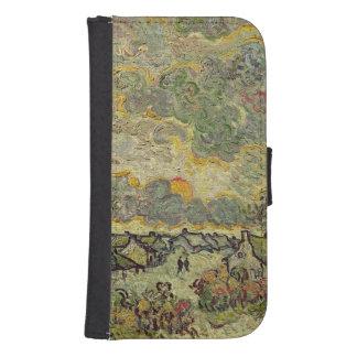 Coque Avec Portefeuille Pour Galaxy S4 Paysage d'automne de Vincent van Gogh |, 1890