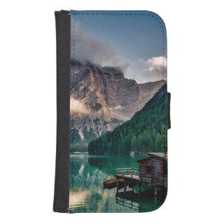 Coque Avec Portefeuille Pour Galaxy S4 Photo italienne de paysage de lac mountains