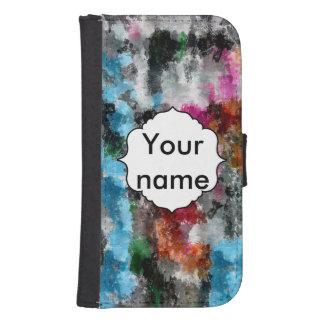 Coque Avec Portefeuille Pour Galaxy S4 Texture colorée