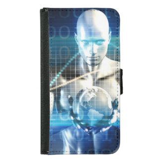 Coque Avec Portefeuille Pour Galaxy S5 Nouvelle future technologie dans la paume de votre