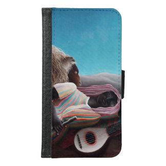 Coque Avec Portefeuille Pour Galaxy S6 Henri Rousseau le cru gitan de sommeil