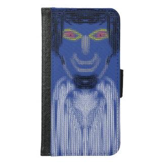 Coque Avec Portefeuille Pour Galaxy S6 La personne sur l'arrière - plan bleu