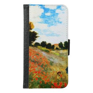 Coque Avec Portefeuille Pour Galaxy S6 Monet-Pavots de Claude à Argenteuil