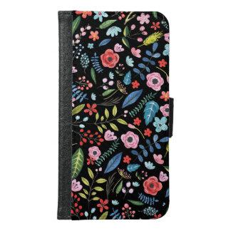 Coque Avec Portefeuille Pour Galaxy S6 Motif botanique mignon coloré de fleurs et de