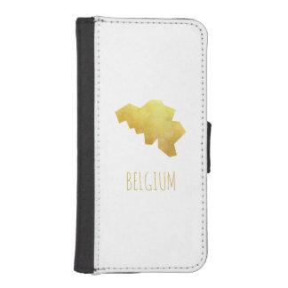 Coque Avec Portefeuille Pour iPhone 5 Carte de la Belgique