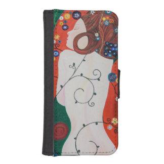 Coque Avec Portefeuille Pour iPhone 5 Couverture mobile avec carré Sirène