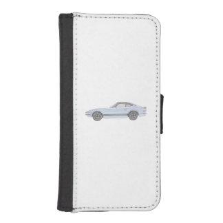 Coque Avec Portefeuille Pour iPhone 5 Dessin bleu de style de crayon de Datsun 240Z