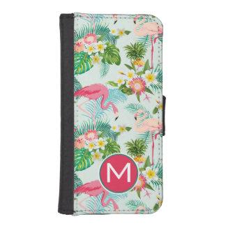 Coque Avec Portefeuille Pour iPhone 5 Les fleurs et les oiseaux tropicaux | ajoutent