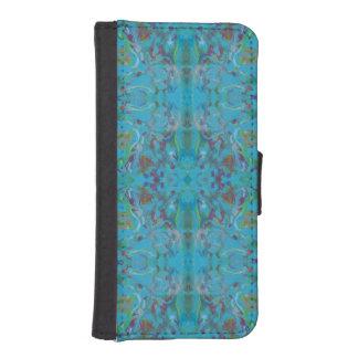 Coque Avec Portefeuille Pour iPhone 5 Motif de marbre bleu de peinture