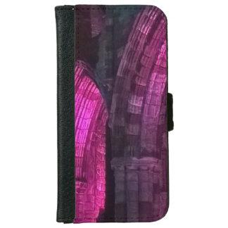 Coque Avec Portefeuille Pour iPhone 6 Abbaye de Whitby de voûtes gothiques illuminée