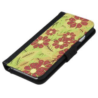 Coque Avec Portefeuille Pour iPhone 6 Feuillage et fleurs