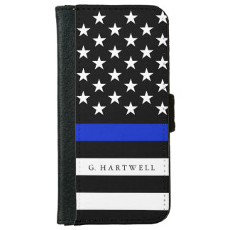 Coque Avec Portefeuille Pour iPhone 6 La police patriote nommée faite sur commande