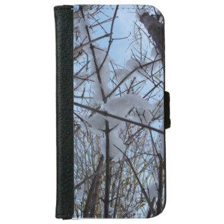 Coque Avec Portefeuille Pour iPhone 6 Neige sur l'arbre