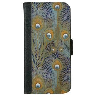 Coque Avec Portefeuille Pour iPhone 6 Plumes de paon de William Morris
