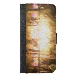 Coque Avec Portefeuille Pour iPhone 6 Plus Lumières et feu 5 de festival