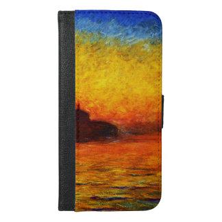 Coque Avec Portefeuille Pour iPhone 6 Plus Monet-Coucher du soleil de Claude à Venise