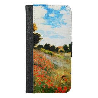 Coque Avec Portefeuille Pour iPhone 6 Plus Monet-Pavots de Claude à Argenteuil